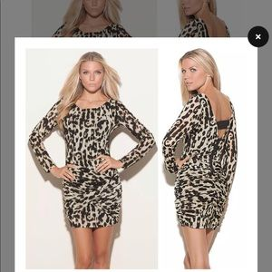Guess leopard print, body con dress. Very sexy!